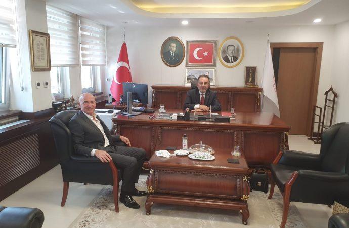Başkanımız Zeki Demirtaşoğlu Sanayi ve Ticaret Bakan Yardımcısı Dr.Ertuğrul Sosyal'ı makamında ziyaret etti.